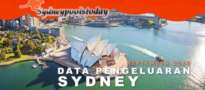 data pengeluaran togel sydney SY September 2018