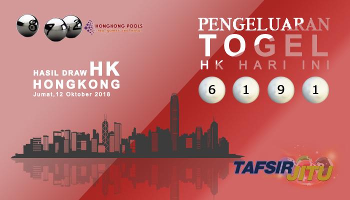 Pengeluaran Hari Ini HK Hongkong 12 Oktober 2018