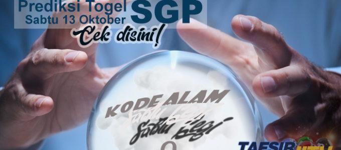 Prediksi Togel SGP 13 Oktober 2018