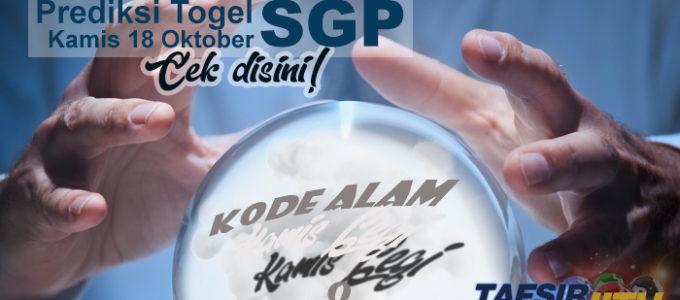 Prediksi Togel SGP 18 Oktober 2018