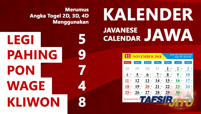 Merumus Angka Togel 2D, 3D, 4D Menggunakan Kalender Jawa