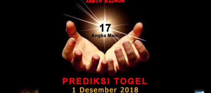 Prediksi Togel SGP 1 Desember 2018