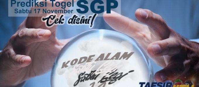 Prediksi Togel SGP 17 November 2018