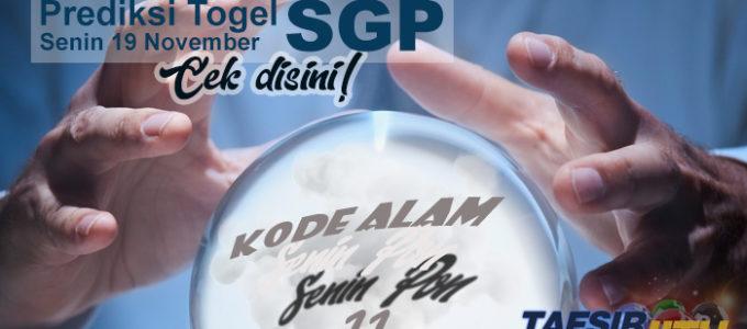 Prediksi Togel SGP 19 November 2018