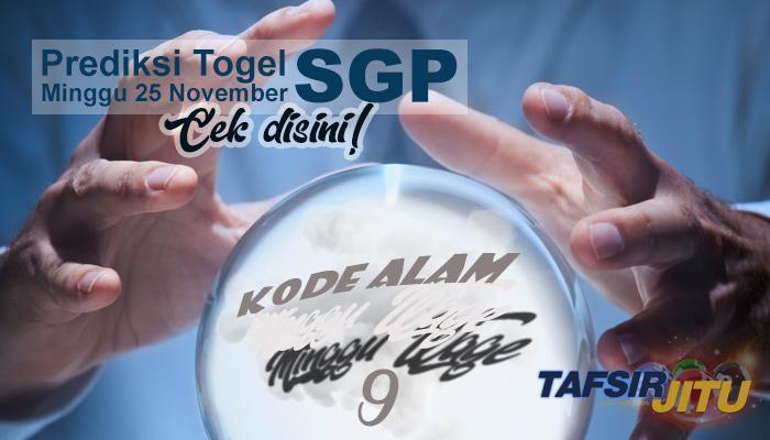 Prediksi Togel SGP 25 November 2018