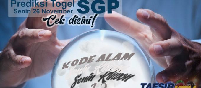 Prediksi Togel SGP 26 November 2018