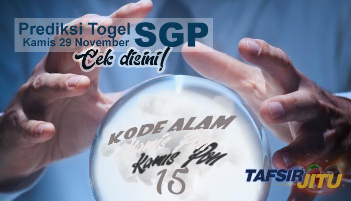 Prediksi Togel SGP 29 November 2018