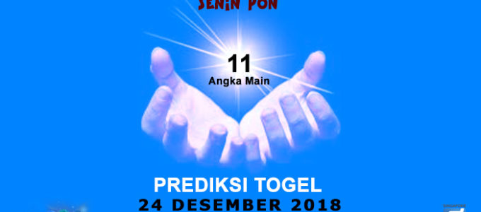 Prediksi Togel SGP 24 Desember 2018