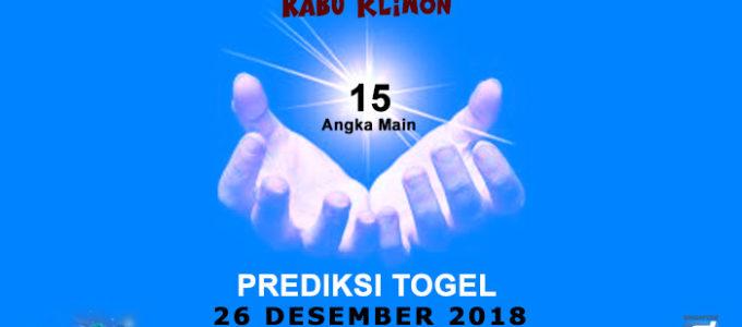 Prediksi Togel SGP 26 Desember 2018