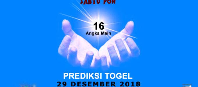 Prediksi Togel SGP 29 Desember 2018