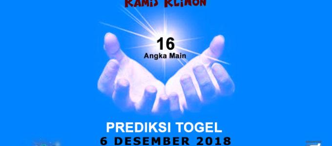 Prediksi Togel SGP 6 Desember 2018