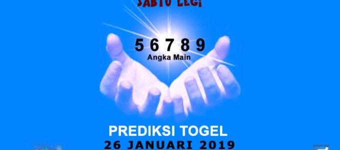 Prediksi Togel SGP 26 Januari 2019