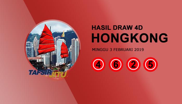 Pengeluaran hari ini HK Hongkong 3 Februari 2019