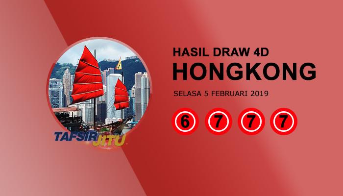 Pengeluaran hari ini HK Hongkong 5 Februari 2019