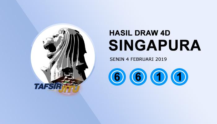 Pengeluaran hari ini SGP Singapura 4 Februari 2019