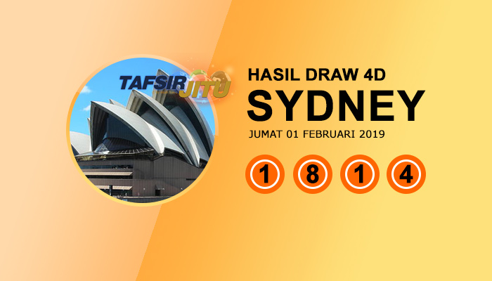 Pengeluaran hari ini SY Sydney 01 Februari 2019