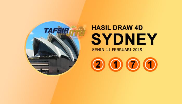 Pengeluaran hari ini SY Sydney 11 Februari 2019