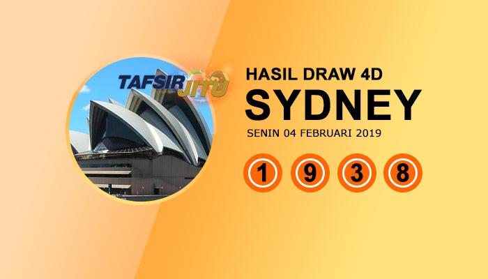 Pengeluaran hari ini SY Sydney 4 Februari 2019