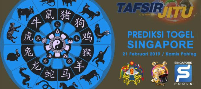 Prediksi Togel SGP 21 Februari 2019
