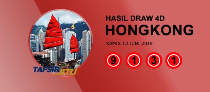 Pengeluaran hari ini HK Hongkong 13 Juni 2019