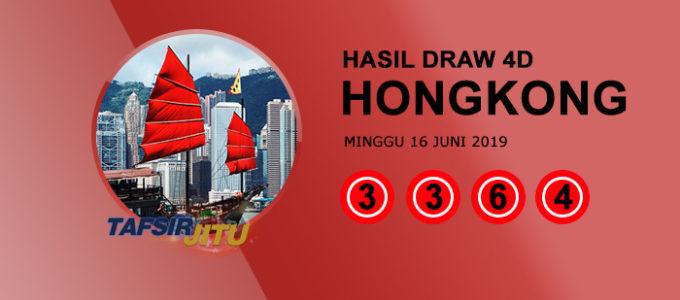 Pengeluaran hari ini HK Hongkong 16 Juni 2019