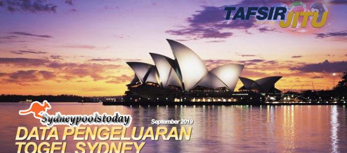 Data Pengeluaran Togel Sydney September 2019