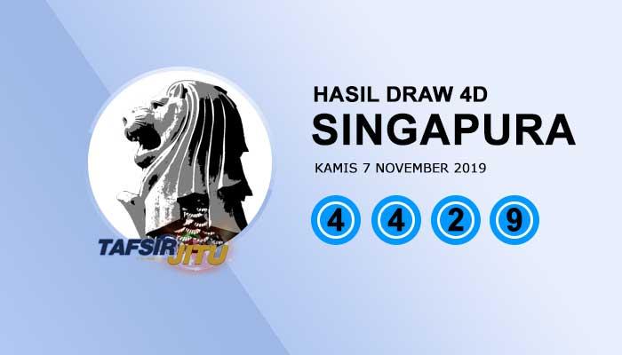 Pengeluaran hari ini SGP Singapura 7 November 2019 tafsirjitu