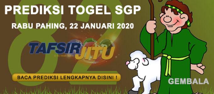 Prediksi Togel SGP 22 Januari 2020