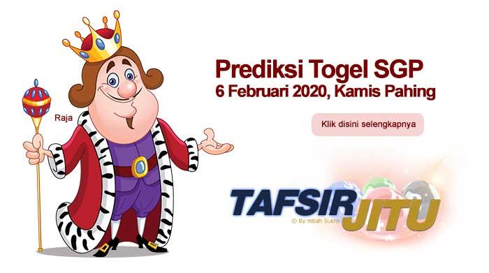 Prediksi Togel SGP 6 Februari 2020 Oleh Mbah Sukro