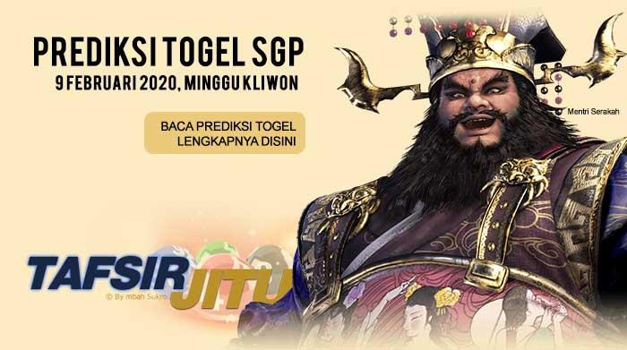 Prediksi Togel SGP 9 Februari 2020 Oleh Mbah Sukro