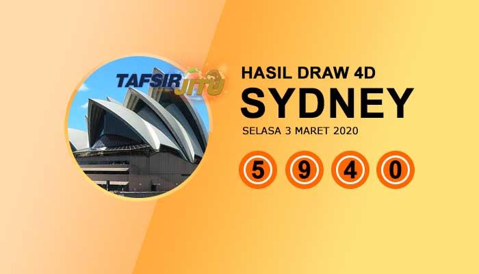 Pengeluaran hari ini SY Sydney 3 Maret 2020 tafsirjitu
