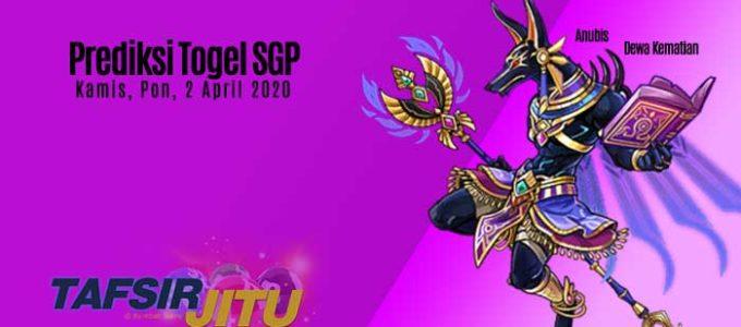 Prediksi Togel SGP 2 April 2020 Oleh Mbah Sukro Tafsirjitu