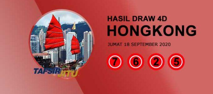 Pengeluaran hari ini HK Hongkong 18 September 2020 tafsijrjitu