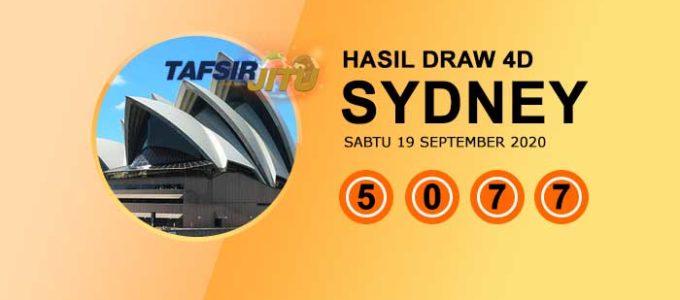 Pengeluaran hari ini SY Sydney 19 September 2020 tafsirjitu
