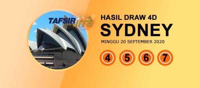 Pengeluaran hari ini SY Sydney 20 September 2020 tafsirjitu