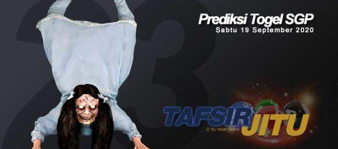Prediksi Togel SGP 19 September 2020 Oleh Mbah Sukro Tafsirjitu