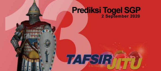 Prediksi Togel SGP 2 September 2020 Oleh Mbah Sukro tafsirjitu