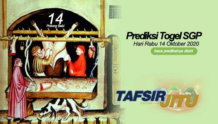 Prediksi Togel SGP 14 Oktober 2020 oleh mbah sukro tafsirjitu