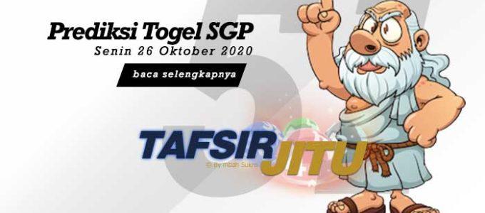 Prediksi Togel SGP 26 Oktober 2020 Oleh Mbah Sukro Tafsirjitu