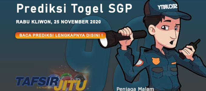 Prediksi Togel SGP 25 November 2020